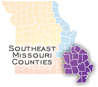 Map of Southeast Missouri Counties