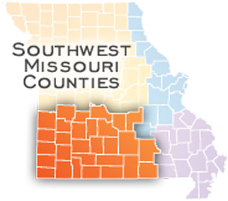 Map of Southwest Missouri Counties